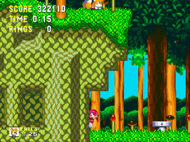 Sonic and Knuckles & Sonic 3 - obvious switch and hideout much?? - User Screenshot
